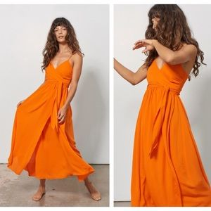 Mara Hoffman Alma Wrap Tie Maxi Dress